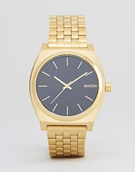 Nixon Porter Gold Bracelet Watch With Black Sunray Dial Gold