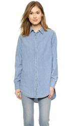 Sundry Oversized Shirt Chambray