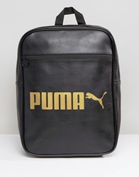 Puma Campus Backpack Black Gold