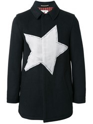 Education From Youngmachines Star Patch Short Coat Black