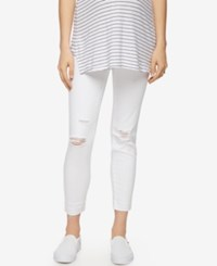 A Pea In The Pod Luxe Essentials Maternity White Wash Ankle Skinny Jeans