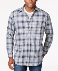 Club Room Big And Tall Long Sleeve Plaid Shirt Jacket Only At Macy's