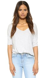 Bb Dakota Oversized V Neck Tee Light Heather Grey