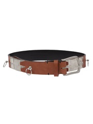 Faith Connexion Metal Embellished Belt Brown