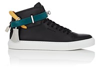 Buscemi 100Mm Leather Sneakers Black