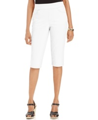 Style And Co. Petite Pull On Skimmer Pants White