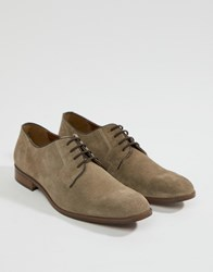 Dune Lace Up Suede Shoes In Beige Suede