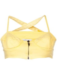 Future Ozbek Vintage Bustier Crop Top Yellow And Orange