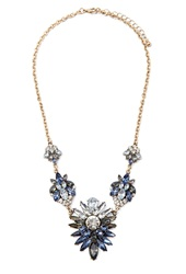 Forever 21 Faux Gem Statement Necklace Antic Gold Grey