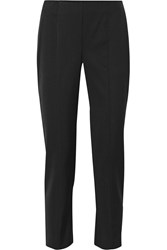Narciso Rodriguez Stretch Wool Gabardine Straight Leg Pants Black