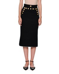 Dolce And Gabbana Nautical Cotton Skirt Navy