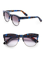 Wildfox Couture 51Mm Club Fox Wayfarer Sunglasses Blue Iris