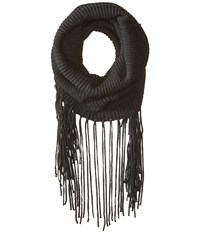 Michael Stars Fringed Out Cowl Oxide Scarves Blue