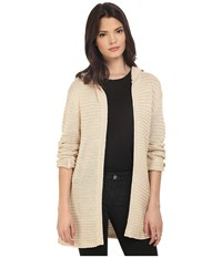 Culture Phit Lainey Hooded Cardigan Sand Women's Sweater Beige