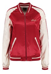 Khujo Hongkong Koi Bomber Jacket Light Brick Red