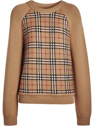 Burberry Vintage Check Wool Jacquard Sweater Yellow And Orange