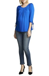 Women's Maternal America Maternity Tie Sleeve Top