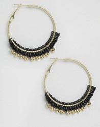 Pieces Pina Hoop Earrings Gold