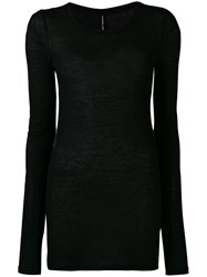 Isabel Benenato Long Fitted Top Black