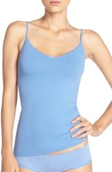 Women's Nordstrom Lingerie Lace Trim Two Way Seamless Camisole Blue Yonder