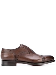 Santoni Perforated Low Heel Oxford Shoes 60