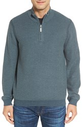 Tommy Bahama Men's Big And Tall Make Mine A Double Reversible Quarter Zip Sweater Seaway
