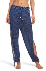 Lucky Brand Women's Nomad Ankle Tie Cover Up Pants Navy