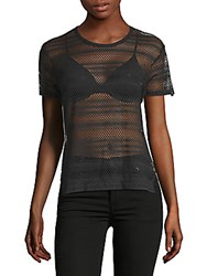 X By Gottex City Mesh Short Sleeve Top Black