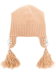 Dorothee Schumacher Tassel Embroidered Hat Neutrals