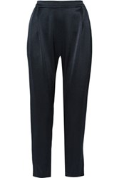 Derek Lam 10 Crosby By Satin Tapered Pants Midnight Blue