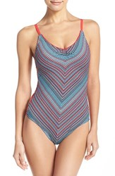 Women's Lucky Brand 'Mosaic' One Piece Swimsuit