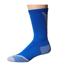 Nike Elite Cushion Crew Hyper Cobalt Wolf Grey Wolf Grey Men's Crew Cut Socks Shoes Blue
