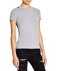 Monrow Faux Leather Back Tee