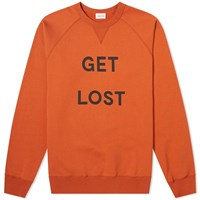 Wood Wood Get Lost Crew Sweat Orange