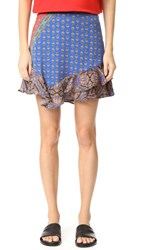 Free People Dance This Way Printed Skirt Red