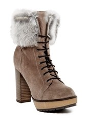 Manas Design Genuine Rabbit Fur Lined Boot Brown