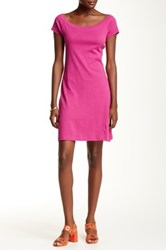 Andrea Jovine Raglan Short Sleeve Dress Pink