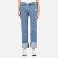 Paul Smith Women's Patches Jeans Denim Blue