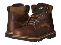 John Deere 6 Lace Up Gaucho Brown Men's Work Lace Up Boots