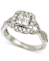 Macy's Diamond Quad Twist Engagement Ring 1 Ct. T.W. In 14K White Gold