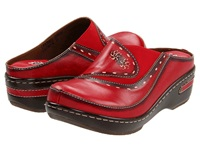 Spring Step Chino Red Women's Clog Shoes