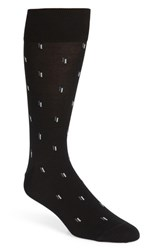 John W. Nordstrom Big And Tall Falling Dashes Socks Black