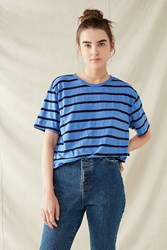 Urban Renewal Recycled Overdyed Striped Tee Lavender