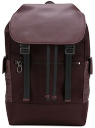 Bottega Veneta Intrecciato Panel Backpack Brown