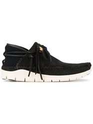 Visvim Black Ute Moc Folk Sneakers Cotton Suede Rubber 9.5