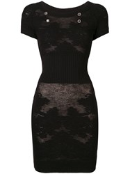 Chanel Vintage Sheer Knitted Dress Black