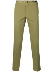 Pt01 Skinny Cropped Trousers Green