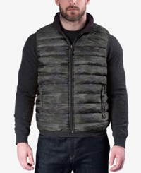 Hawke And Co. Outfitter Outfitters Men's Reversible Packable Vest Faux Wool Eggplant