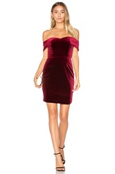 Nicholas Velvet Mini Dress Red