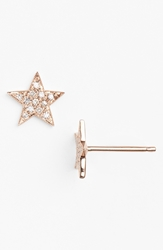 Dana Rebecca Designs 'Julianne Himiko' Diamond Star Stud Earrings Rose Gold